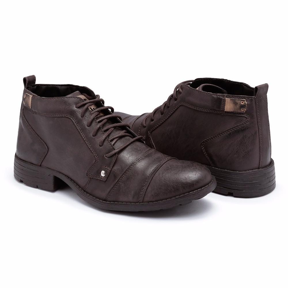 76f98323bd sapato bota masculina casual couro super leve e confortável. Carregando  zoom.
