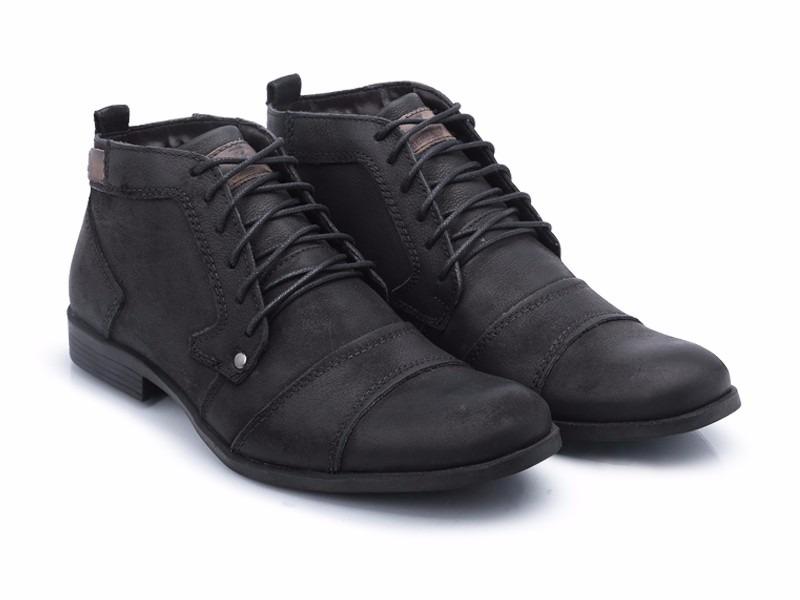 7c4da69c05 sapato bota masculina casual couro.sapato cano alto bergally. Carregando  zoom.