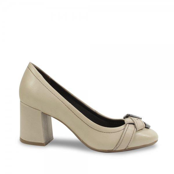 13e9a50ee Sapato Bottero Em Couro Salto Grosso 287603 Marfim - R$ 165,28 em ...