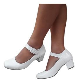 8102dd6750 Sapato Boneca Branco - Sapatos com o Melhores Preços no Mercado Livre Brasil