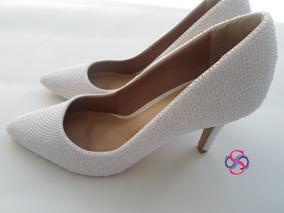 b544956ac Sapato Noiva Personalizado Com Pérolas Strass - Sapatos com o Melhores  Preços no Mercado Livre Brasil