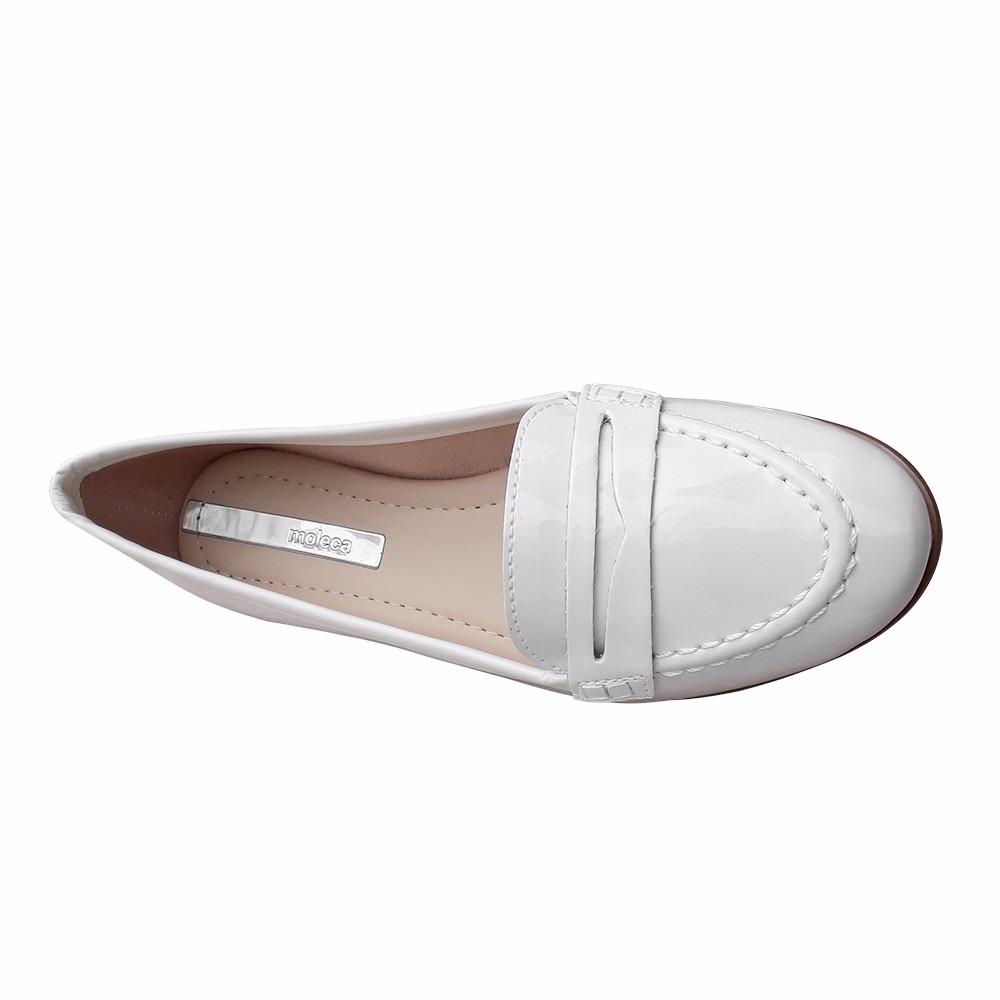 2dce0fc7155b2 sapato branco enfermagem mocassim fechado moleca. Carregando zoom.