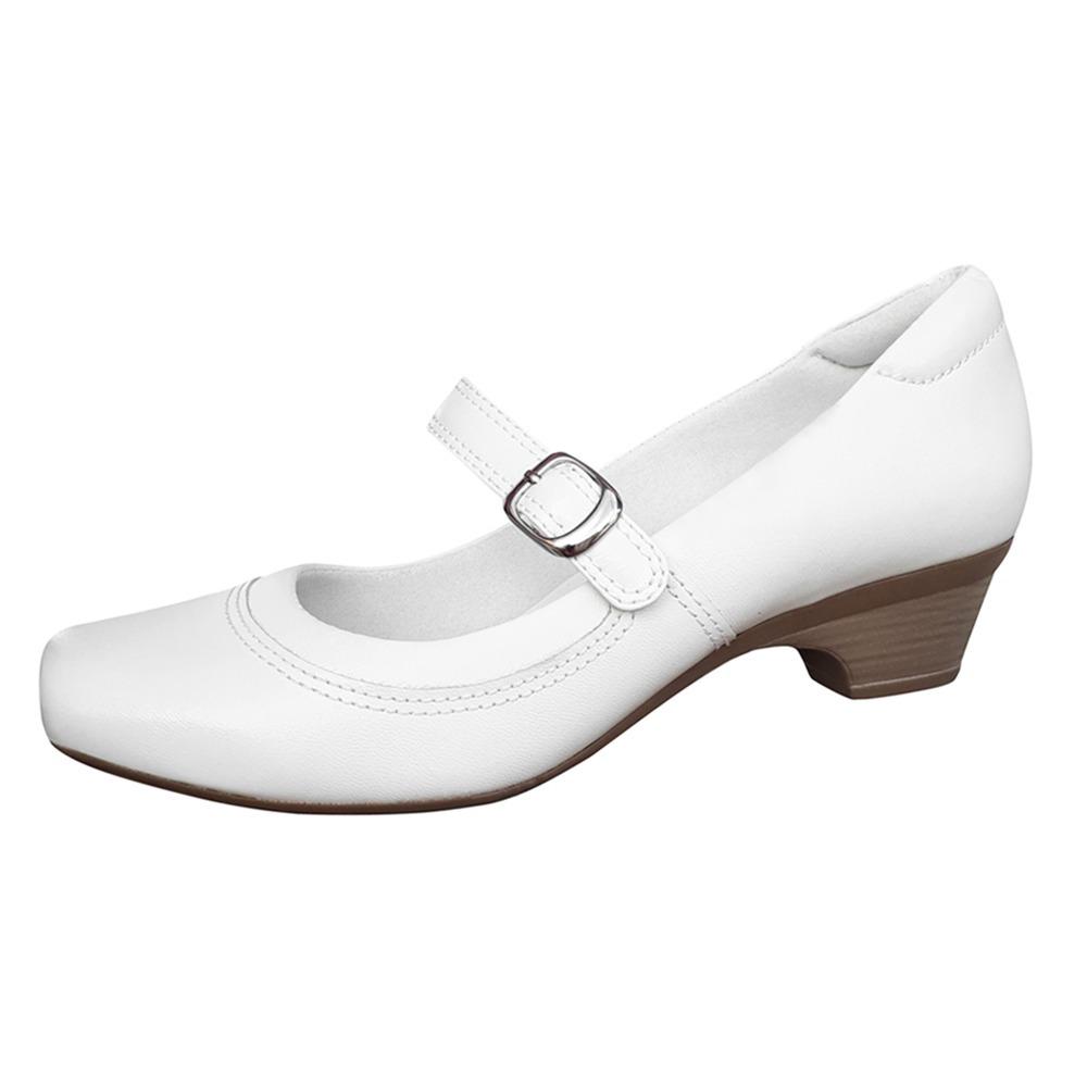 5edde11f77 sapato branco feminino boneca enfermagem couro neftali. Carregando zoom.