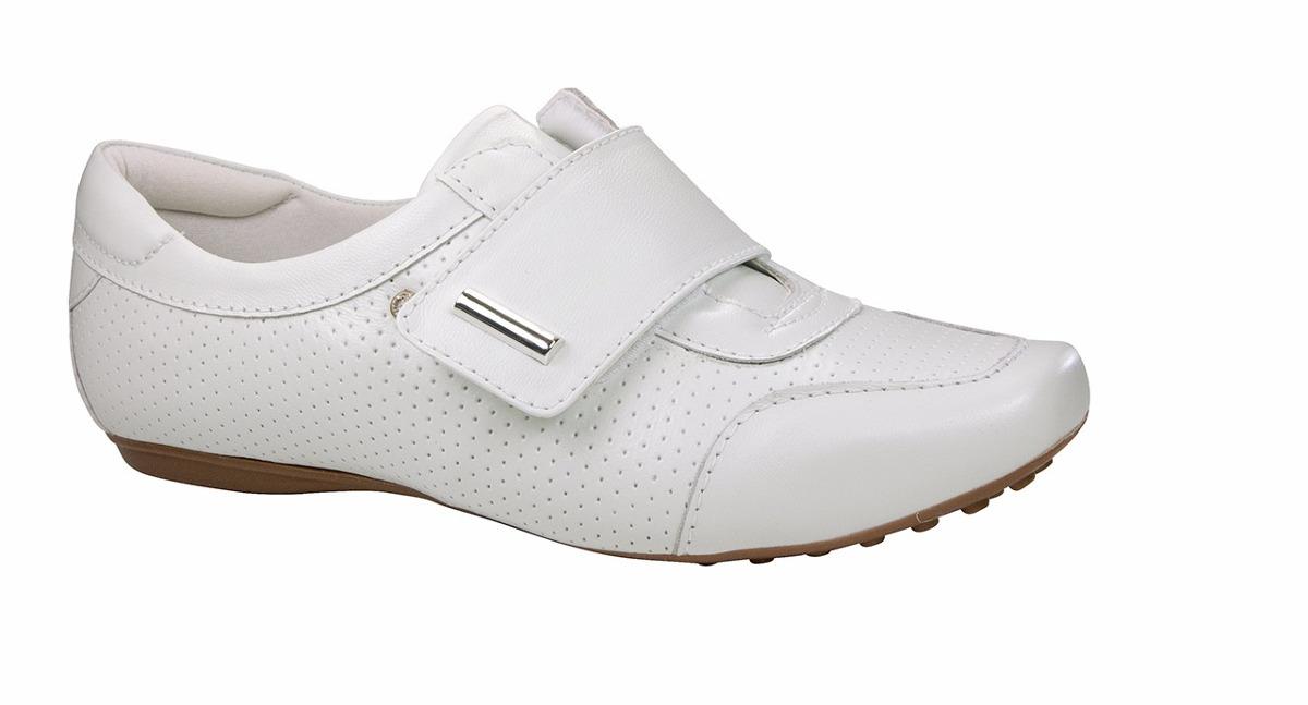 a86fe16473 sapato branco feminino de couro enfermagem - neftali 2064. Carregando zoom.