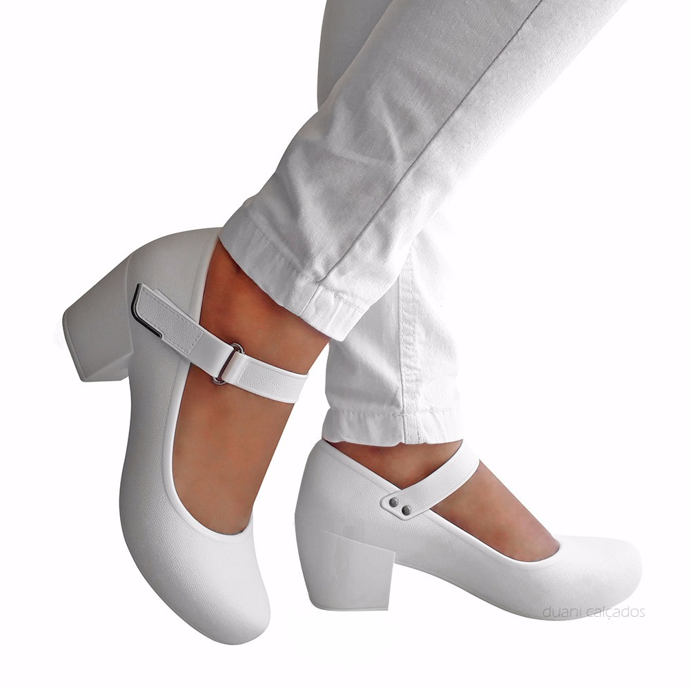 bc92c319b sapato branco feminino enfermagem boneca boa onda conforto. Carregando zoom.