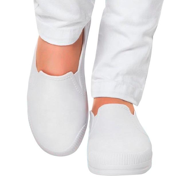 c51cb64023 Sapato Branco Feminino Enfermagem Fechado Impermeável Macio - R  55 ...
