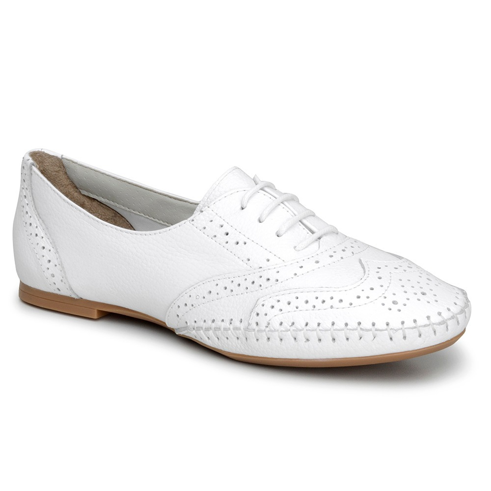 5adfc9cff2 sapato branco feminino oxford em couro enfermeira 015360. Carregando zoom.