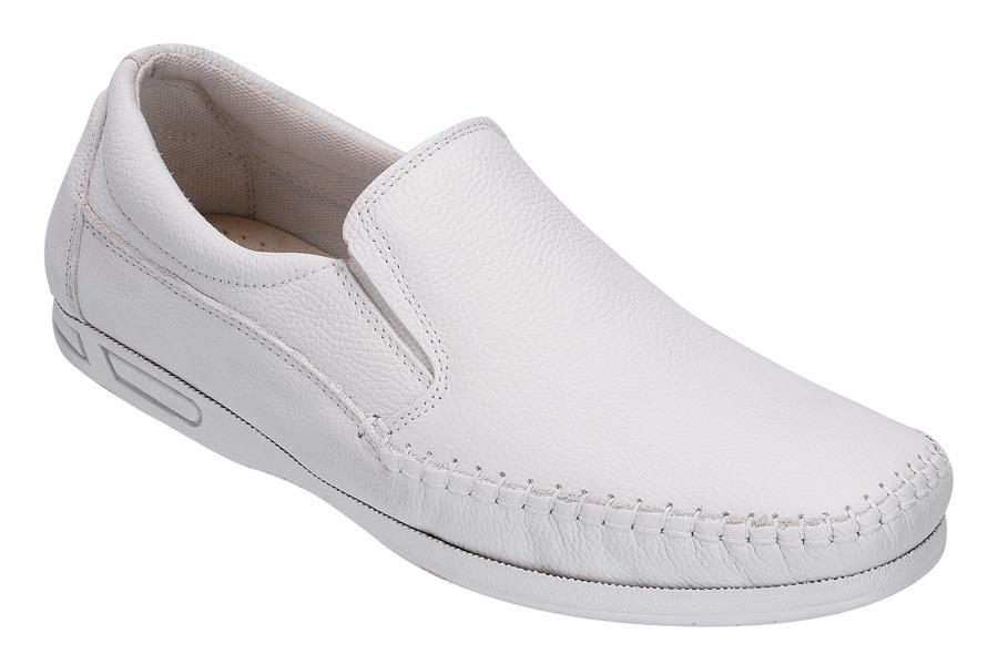 2fb643761f sapato branco masculino p  médico enfermeiro em couro orthox. Carregando  zoom.