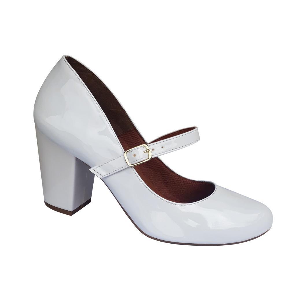 e27b9917e sapato branco noiva festa modelo boneca salto alto grosso. Carregando zoom.