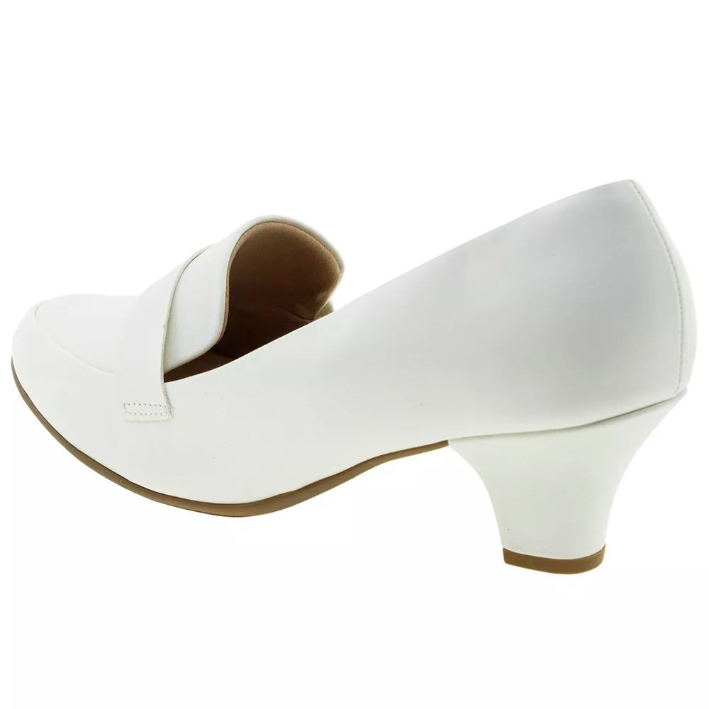 28e1f1222f7b8 sapato branco piccadilly enfermagem noiva salto baixo grosso. Carregando  zoom.