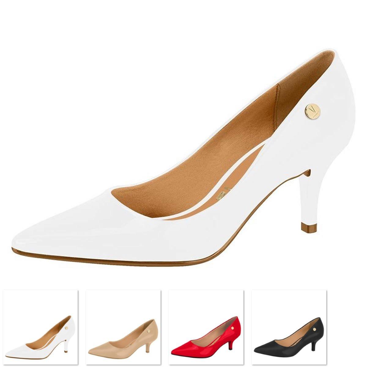 9074d5ea6c sapato branco scarpin vizzano salto médio. Carregando zoom.