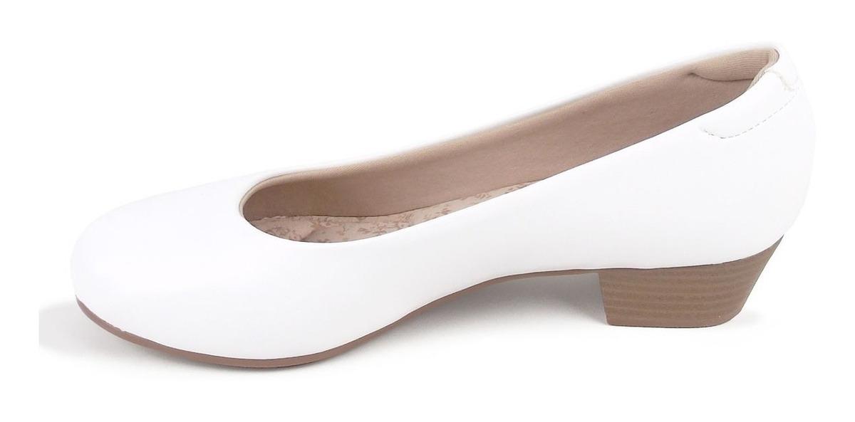 6563e5e6f9 sapato branco social modare ultraconforto feminino 7032.200. Carregando  zoom.