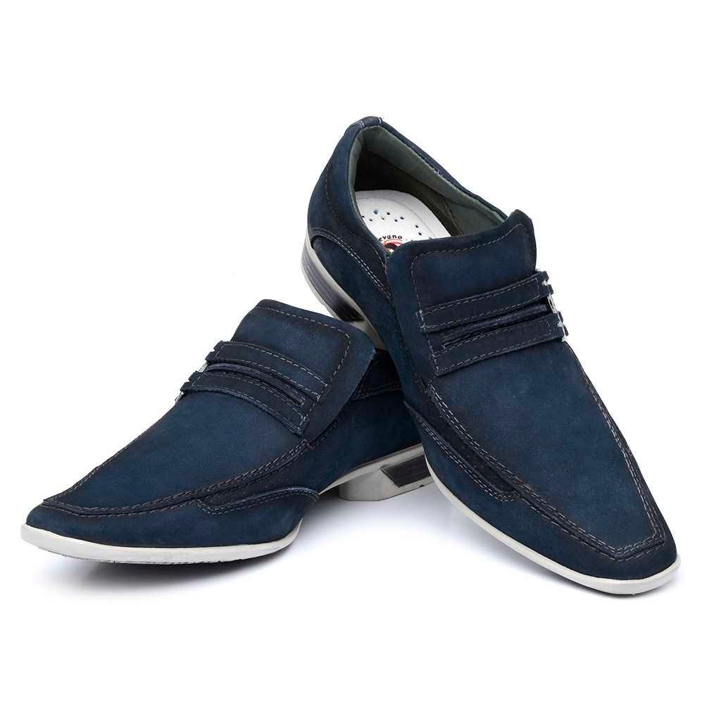 fa6d921747 Sapato Casual Masculino Couro Nobuck Azul Nevano - R$ 174,79 em ...