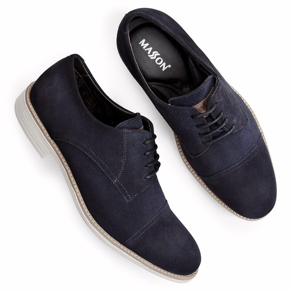 09ada701c9 Sapato Casual Masculino Masson Em Couro Azul Marinho - R$ 229,90 em ...