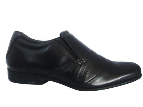 sapato casual masculino milão 1005 - preto a pronta entrega