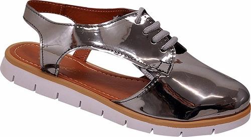 sapato casual oxford aberto sapatilha feminino mocassim 2017