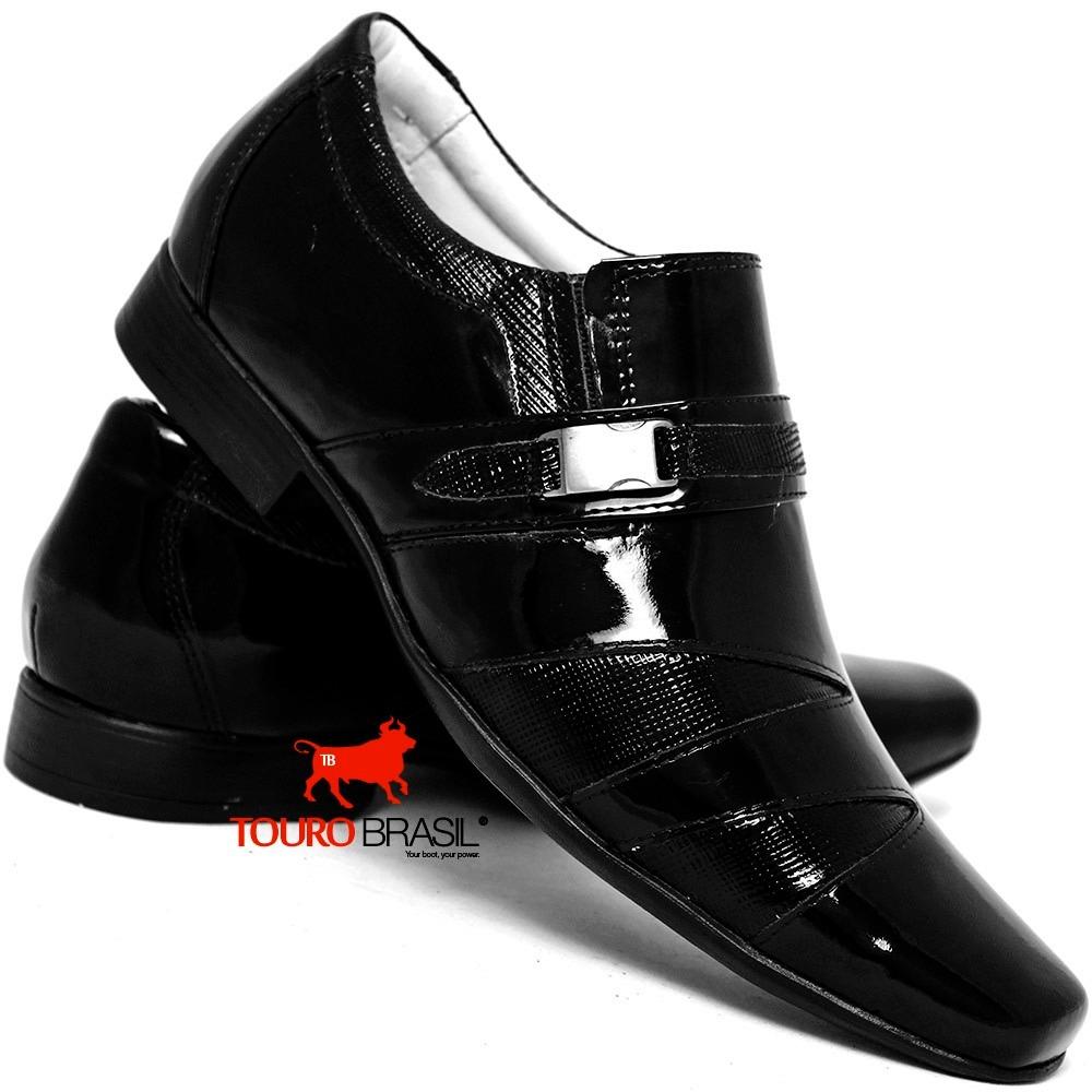 d3ed4ad9b7 sapato casual verniz masculino luxo italiano bico longo. Carregando zoom.