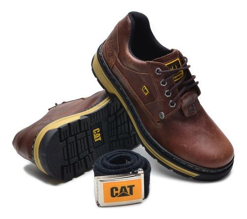 sapato cat caterpillar sapatenis bota couro promoçao cat