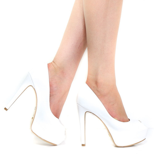 sapato cecconello peep toe verniz feminino 991001 | zariff