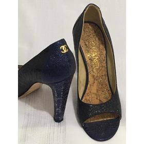 Sapato Chanel Peep Toe Original