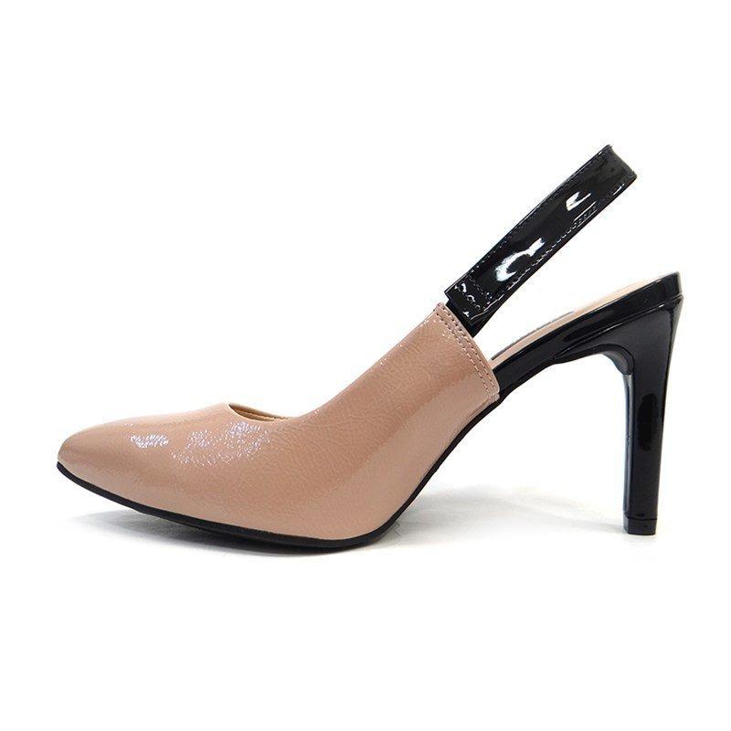 a6cebbc51 Sapato Chanel Slingback B9813 - Dakota (42) - Bege/preto - R$ 181,38 ...