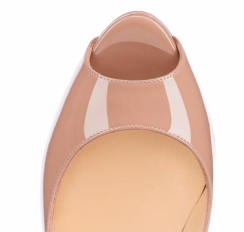 sapato christian louboutin peep toe nude 15 cm frete gratis