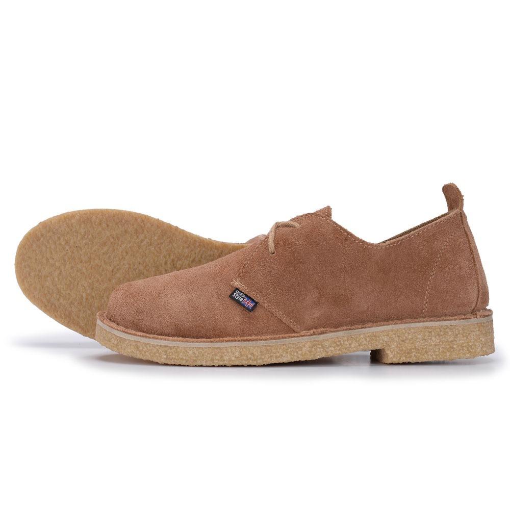 c2f0c179aa533 Sapato Com Solado Crepe Camurça Mostarda - R$ 160,00 em Mercado Livre