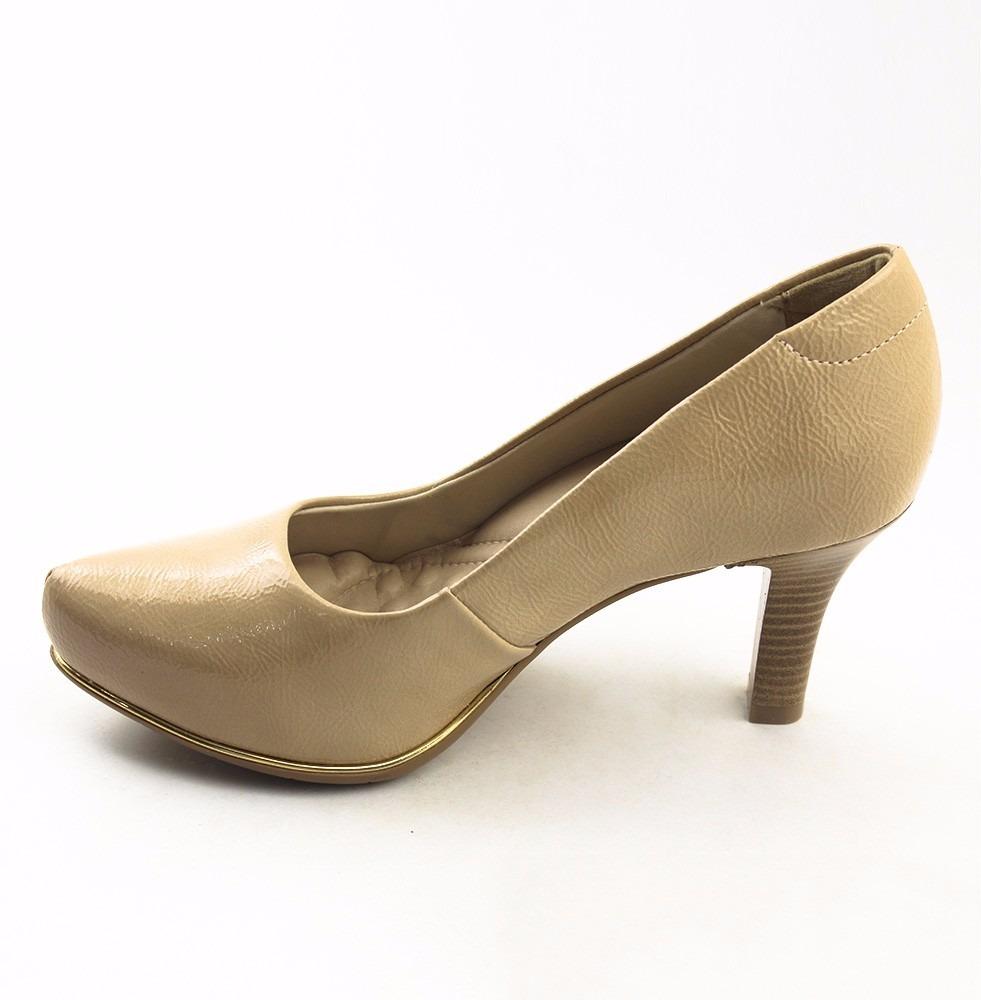8083789b7 sapato comfortflex scarpin ortopédico salto médio 583079. Carregando zoom.