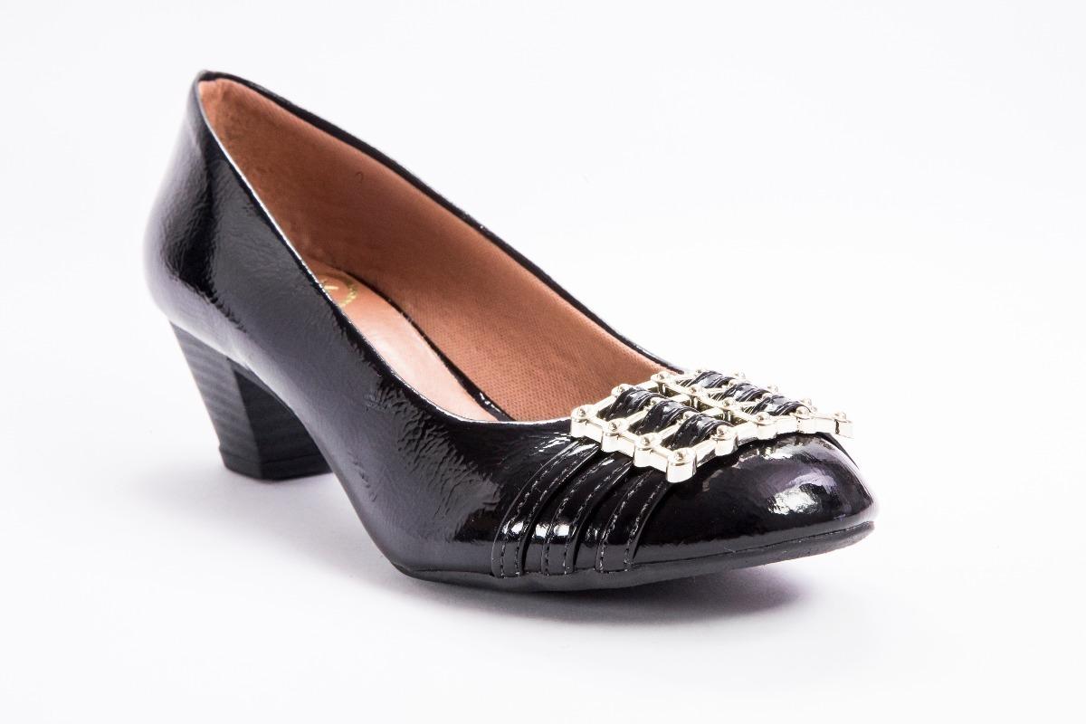 5d07fced1 Sapato Confort Preto Feminino Boneca Frete Grátis - R$ 120,90 em ...