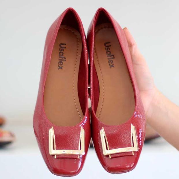 76ab62a714 Sapato Confortável Usaflex Cor Vermelho 5107 Melhor Preço! - R  278 ...