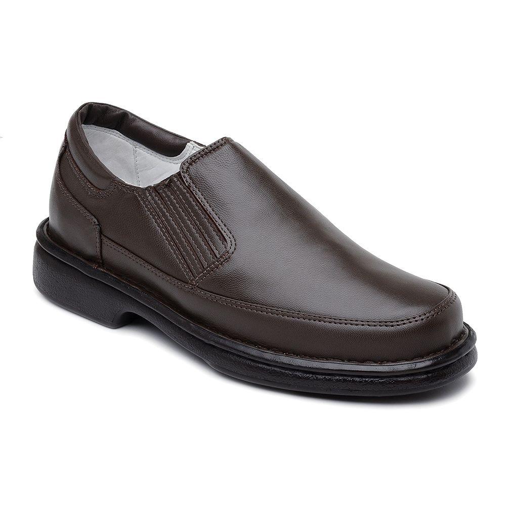8218d7fda sapato conforto masculino couro marrom ranster frete grátis. Carregando  zoom.