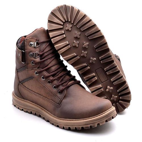 sapato coturno bota masculina casual social adventure top