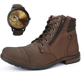 51e13a4b1 Sapato Coturno Bota Masculina Casual Social Urban + Relógio · 3 cores