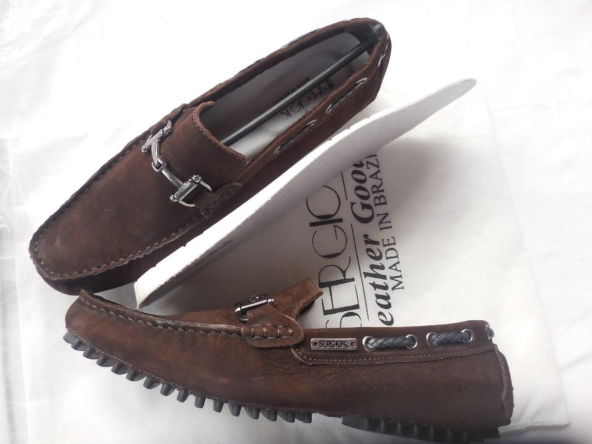 343217f44 sapato couro sergio k mocassim drive conforto gel promoção. Carregando zoom.