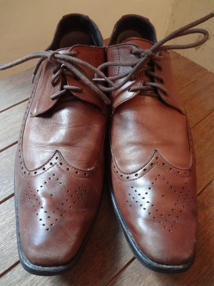 448286866b sapato de couro marrom com cadarço shoestock 40. Carregando zoom.