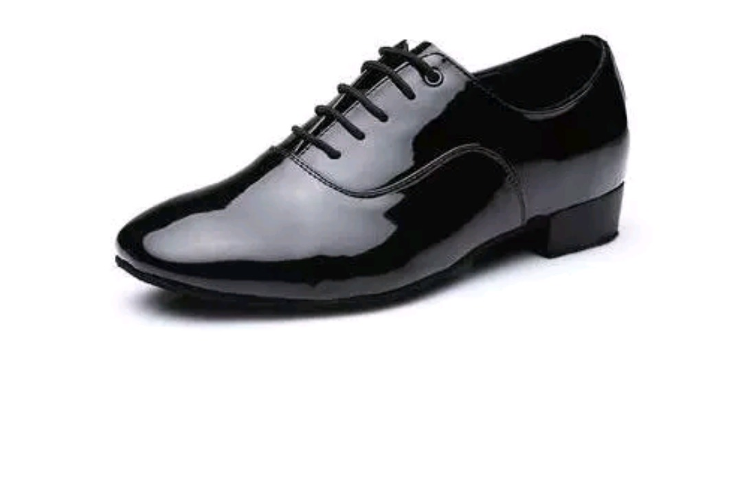 c193716fbc Sapato De Dança De Salão Masculino Preto Couro Brilhoso N°40 - R$ 90 ...
