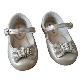 654f653ba2 Sapato De Festa Infantil Dourado Luxo Sapatilha Bebe Coroa