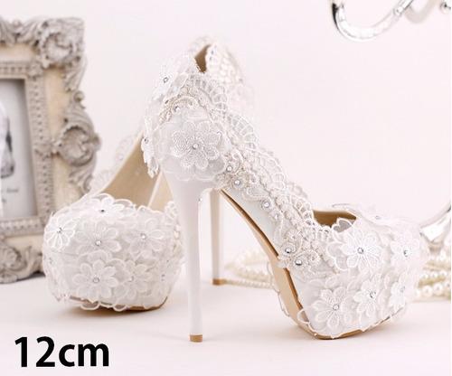 sapato de noiva casamento branco luxo com strass salto alto