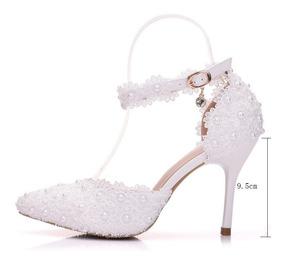 eef4dd0a6 Sandalias Com Perolas Salto Pra Casamento - Sapatos com o Melhores Preços no  Mercado Livre Brasil