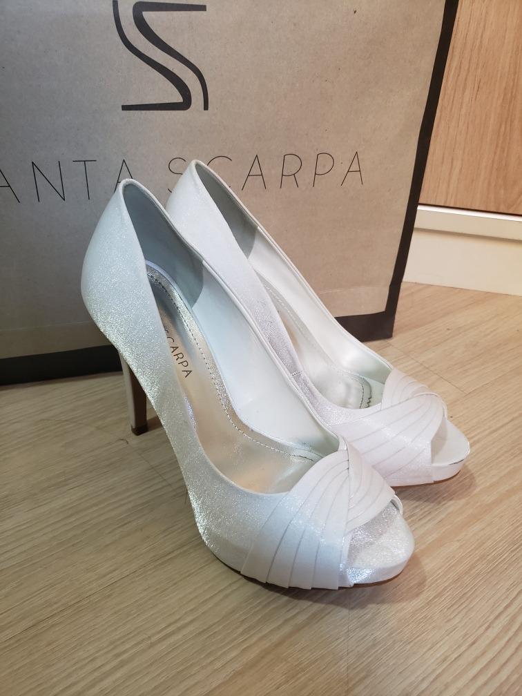0cf99226bd1b7 Sapato De Noiva Santa Scarpa, Branco 37 - R$ 259,00 em Mercado Livre