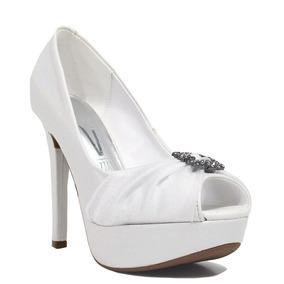 0c97b32c76 Peep Toe Branco Noiva - Scarpins e Plataformas Peep Toes para ...