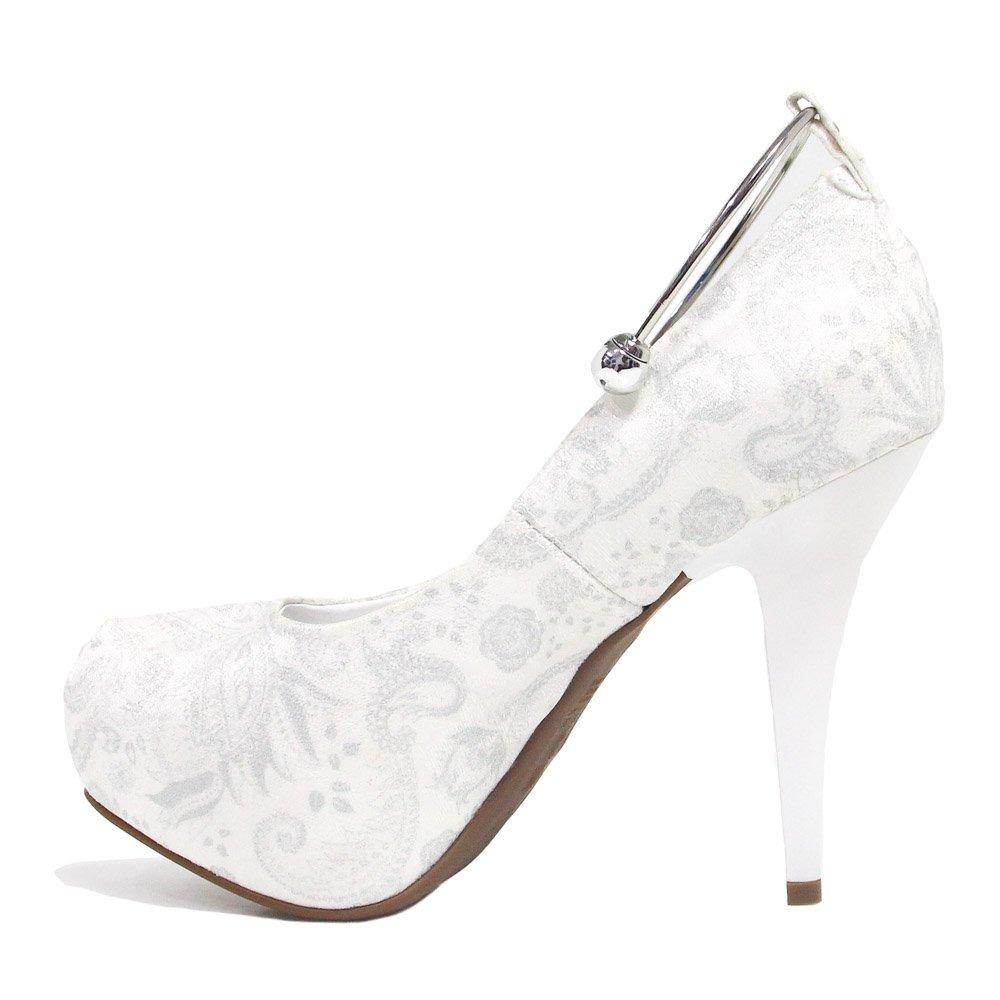 9aa51ba22a sapato de noiva vizzano scarpin verniz salto fino branco. Carregando zoom.