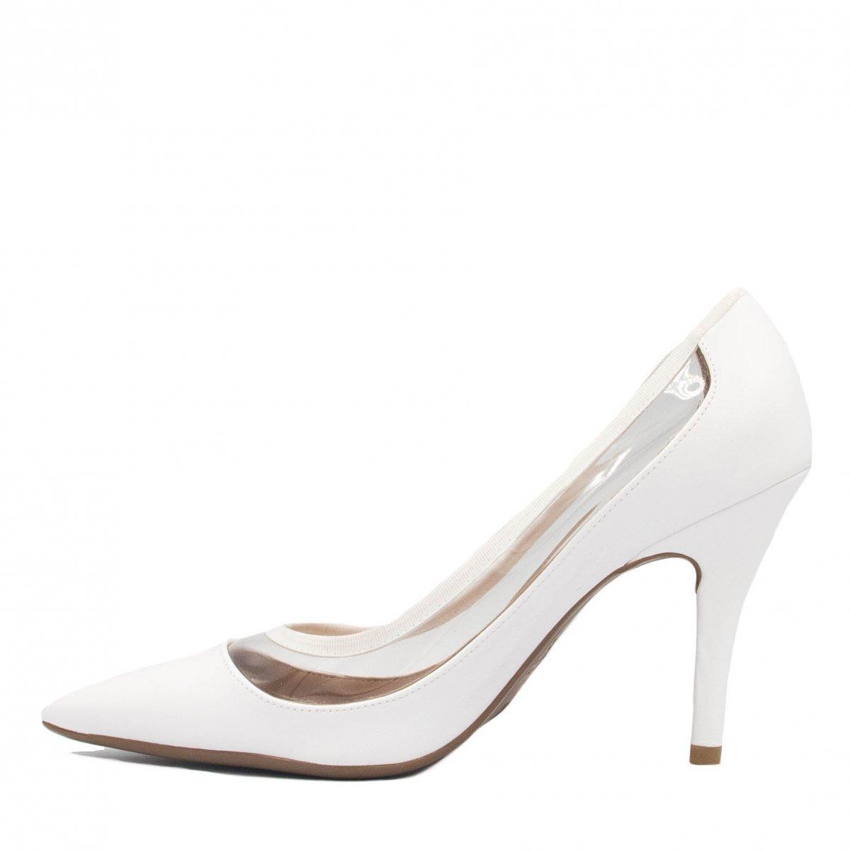 47517e0319 sapato de noiva vizzano scarpin vinil branco 1184.186. Carregando zoom.