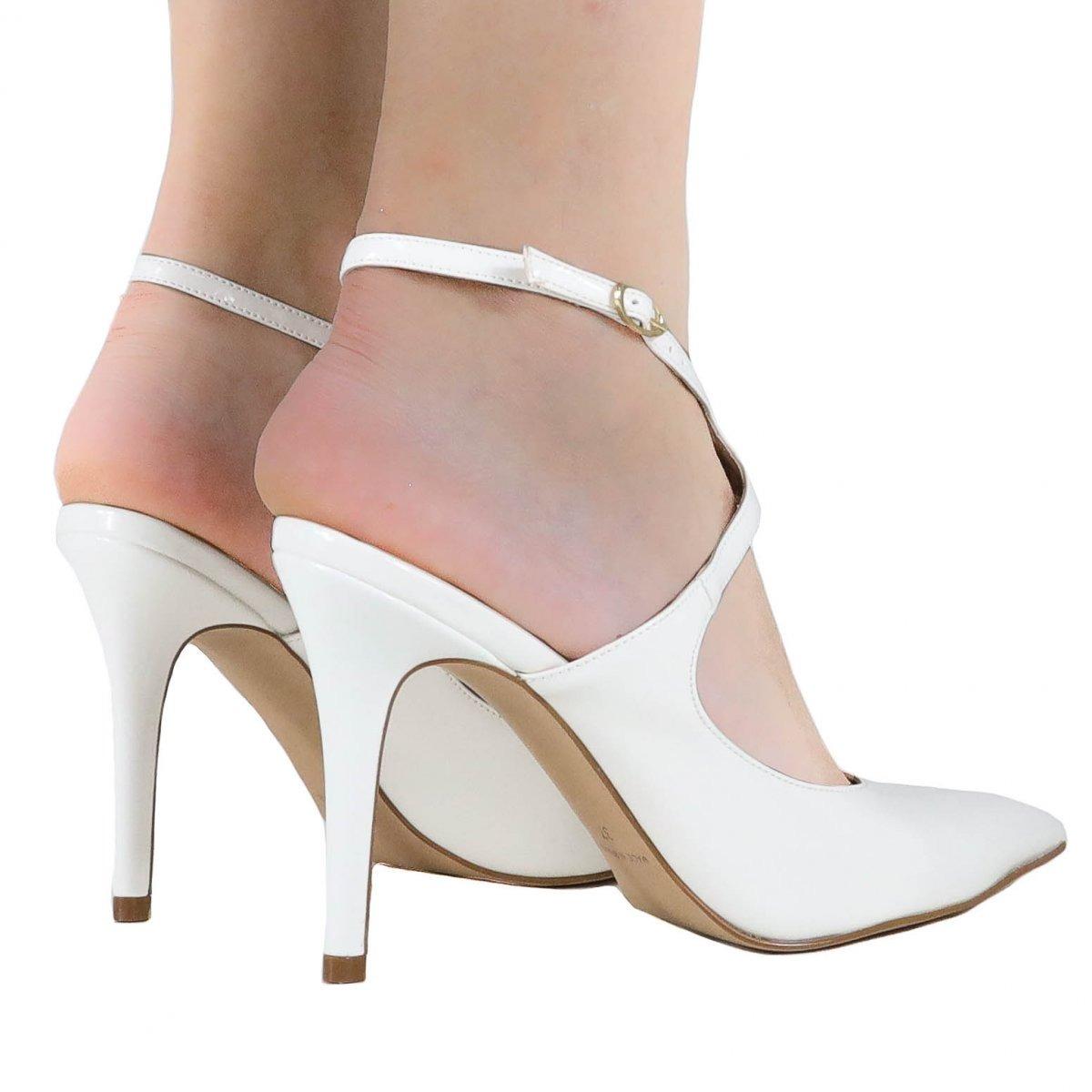 60875cfbc5 sapato de noivas zariff shoes salto alto branco 1041022. Carregando zoom.
