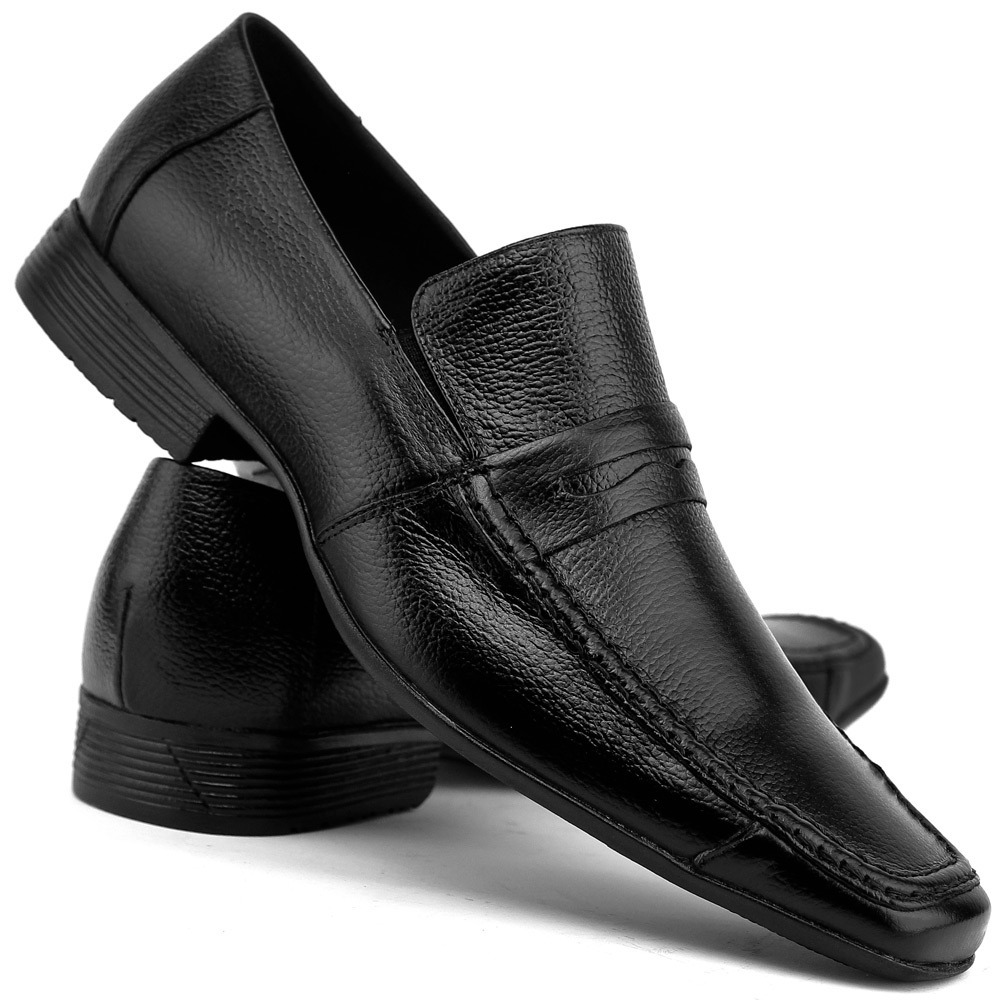 6cb7044a5 sapato em promoção social preto tipo italiano de couro. Carregando zoom.
