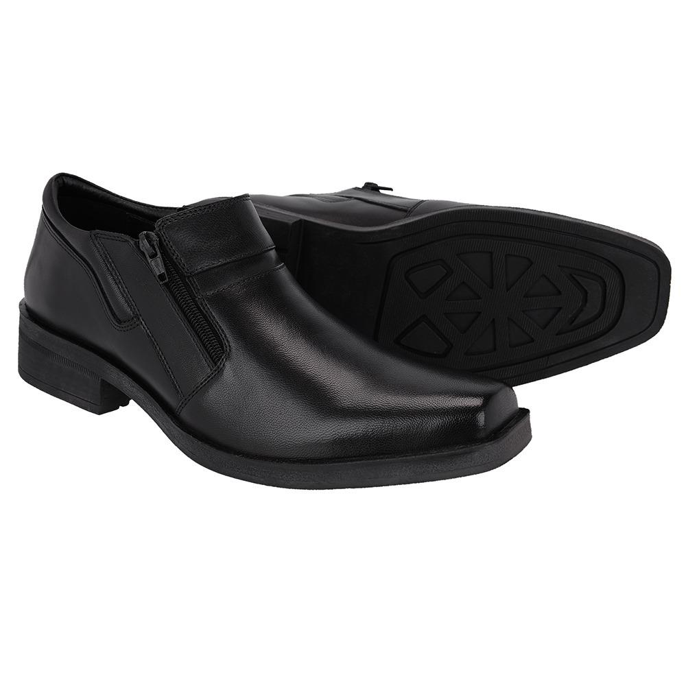 404b1fd995 sapato estilo botinha masculino couro legitimo barato black. Carregando  zoom.