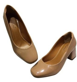 c3bbbaaa7 Sapato Fechado Salto Grosso Nude - Outros Sapatos com o Melhores Preços no  Mercado Livre Brasil