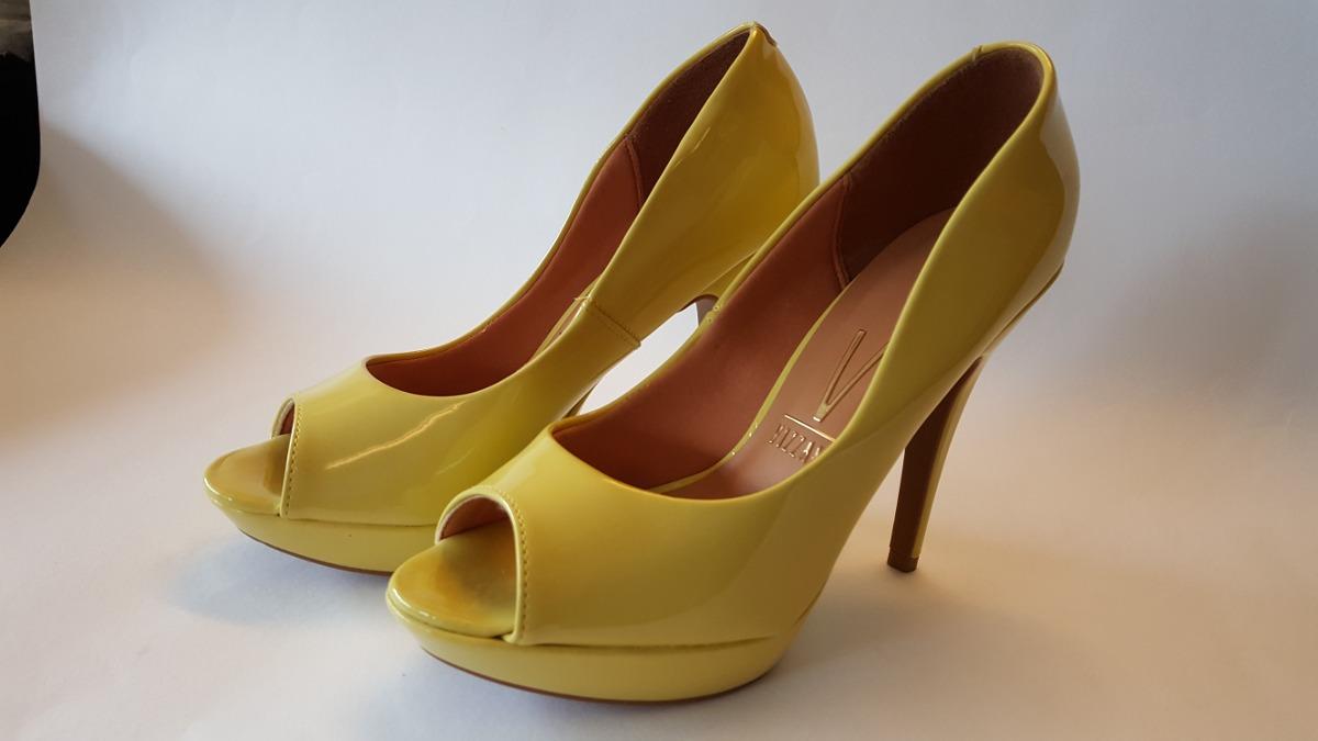 15ba2fc07c Sapato Feminino Amarelo 39 Com Salto 12