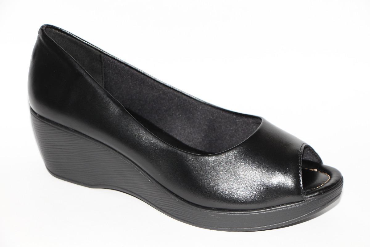 6cda515aa sapato feminino azaleia anabela peep toe bico aberto 637/956. Carregando  zoom.