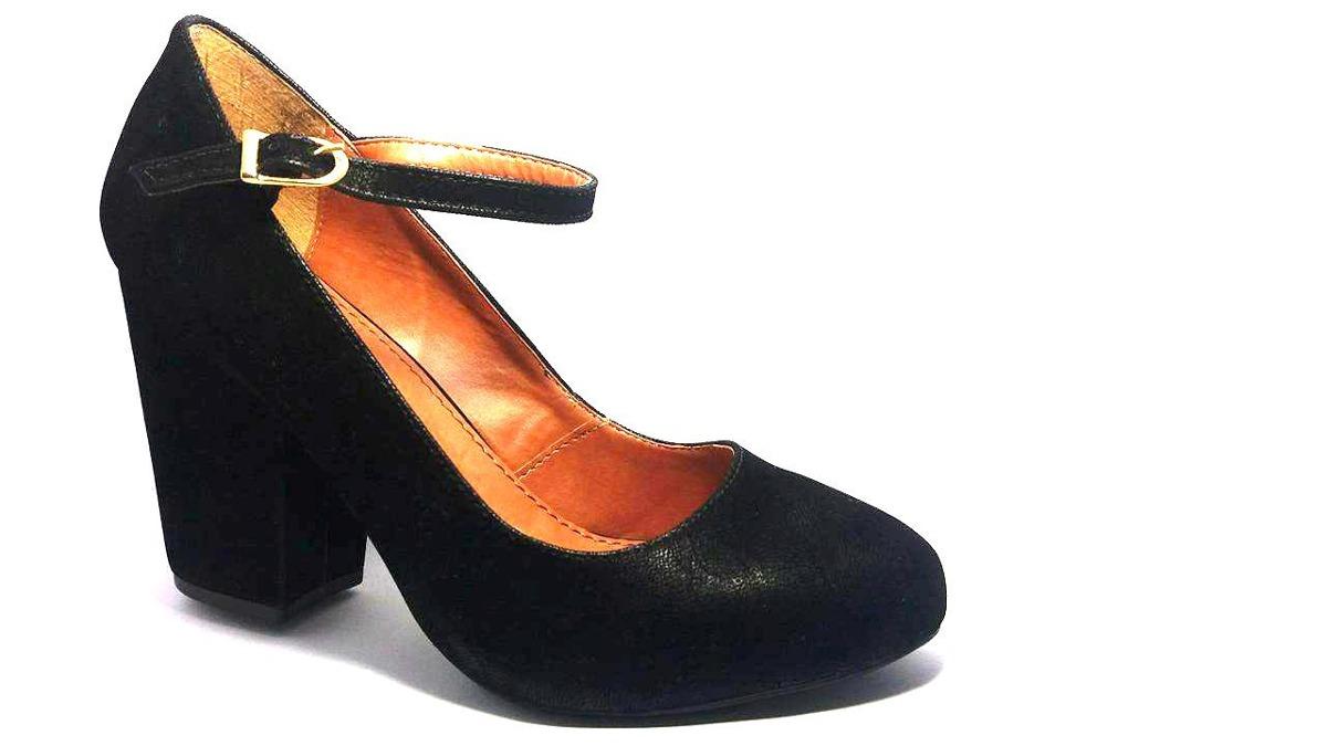 c3d05d913 sapato feminino boneca meia pata - salto grosso - promoção. Carregando zoom.